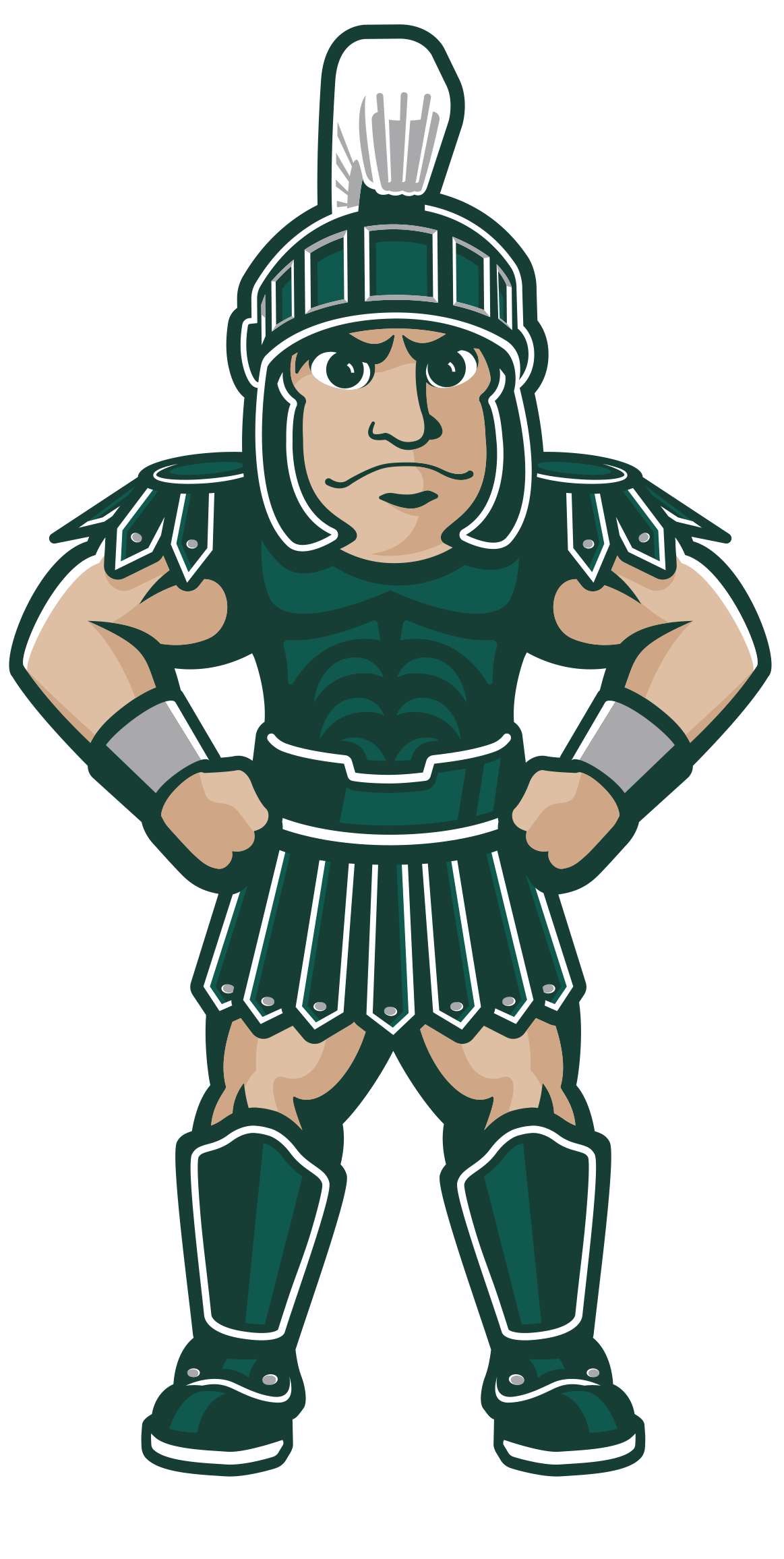 Sparty with Arms Down