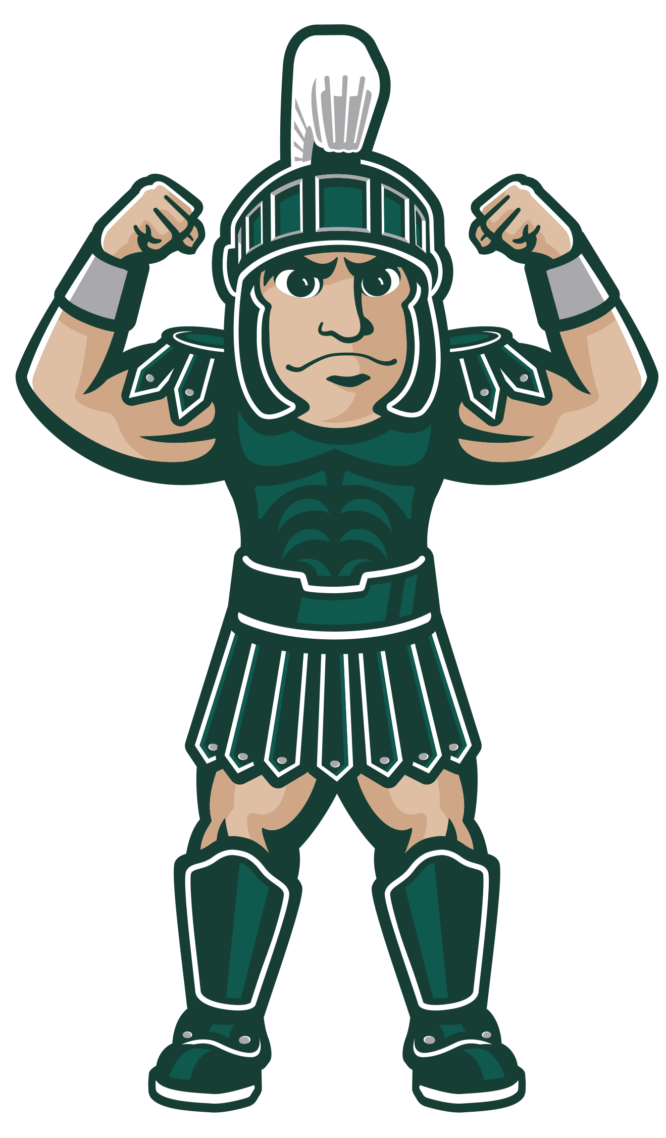 Sparty with Arms Up